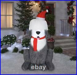 Inflatable Fuzzy Adorable Plush Sheepdog Sheepadoodle Holiday Decoration