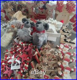 JOB LOT 100 crafted CHRISTMAS DECORATIONS RESALE school craft fair NEW rrp £450