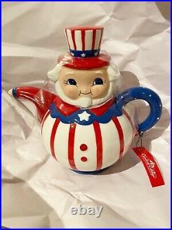 Johanna Parker & MAGENTA Carnival Cottage Patriotic Uncle Sam Teapot