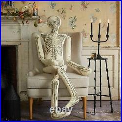 John Derian Threshold 63 LONG LOST FRIEND Lifesize Skeleton Halloween Pillow