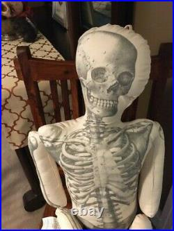 John Derian for Target Long Lost Friend Skeleton Pillow Jointed 63 2020 NWT