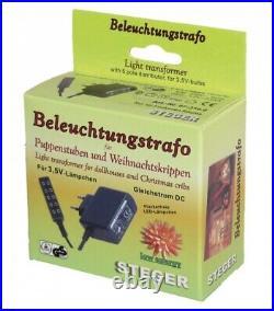 KOMPLETTPAKET WEIHNACHTSKRIPPE Kasper + 11 cm FIGUREN-SET und TRAFO