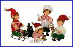 Karen Didion Originals 4 Piece Traditional Elf Assortment Figurine, 9 Inches