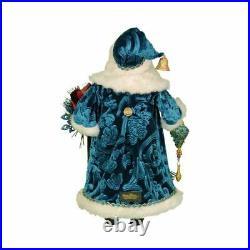 Karen Didion Originals Peacock Santa Figurine, 19 Inches