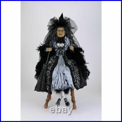 Karen Didion Originals Platinum Sitting Witch Figurine, 26 Inches