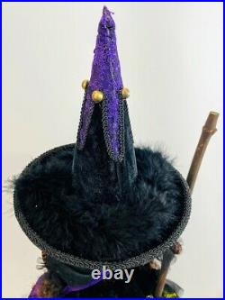 Katherine's Collection Halloween Brunhilda's Menagerie Young Broom Witch