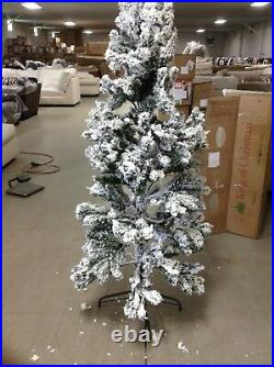 King of Christmas 6' unlit Prince Flocked Pencil Artificial Christmas Tree