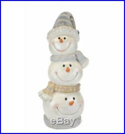Kringle Express Illuminated Indoor Outdoor Snowman Head Stack Christmas Decor