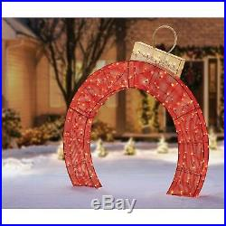 LED Christmas Holiday Lighted Twinkling 72 Mesh ARCH ORNAMENT Yard Decor