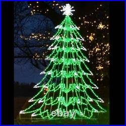 LED Christmas Tree Outdoor Lighted Yard Art Display 3D Decoration Commercial
