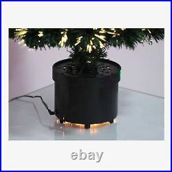 LED Fibre Optic Christmas Tree Pre-Lit Stars Baubles Decorations Xmas Home Decor