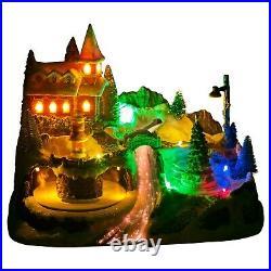 LED Light Up Christmas Festive Village Illuminated Decor Town Ornament Scene