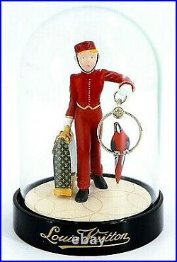 LOUIS VUITTON Snow Globe Dome Page Porter Bell Boy Ornament Novelty 2012 withBox