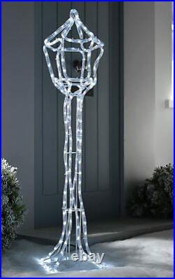 Lamp Post Christmas Motif LED Silhouette Decor Garden 105cm Rope Light New