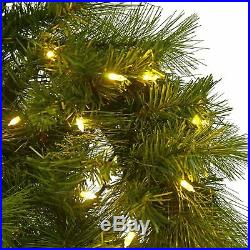 Large Pre-Lit Christmas Wreath 120cm Commercial Display 160 Lights Green Pine