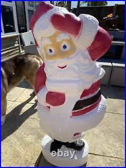 Large Santa Blowmold Christmas Light With Harness