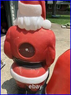 Large blow molds Santa & Mrs Claus EMPIRE & SANTAS BEST
