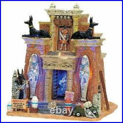 Lemax Spooky Town Halloween Village Animated Cursed Tomb Building 75500