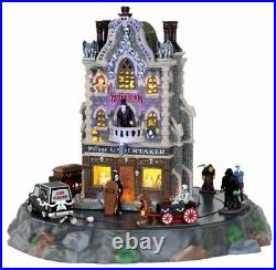 Lemax Spooky Town Halloween Village Undertaker Animated Building 25335 Retired