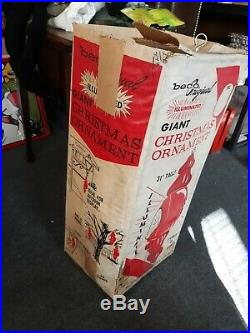 Lg 31 Beco Original Blow Mold Giant Christmas Ornament Lighted Hangs Stands Box