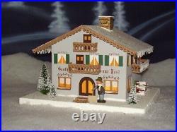Lichterhaus Gasthof Post Winter 29cm Weihnachtshaus NEU Erzgebirge