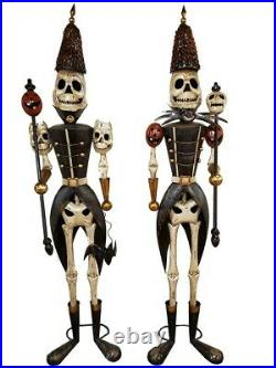 Life-Size Skeleton Soldiers Nutcracker Halloween Haunted House Decor Set of 2