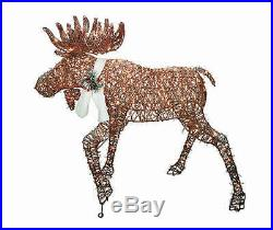 Lighted Brown Woodland Moose Sculpture Outdoor Christmas Decor Holiday Yard Art