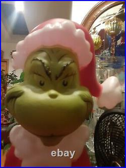 Lighted Grinch Blow Mold Sculpture Outdoor Christmas Decoration Yard Decor