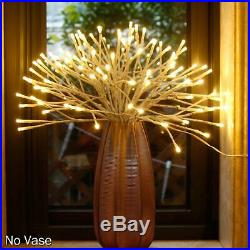 Lighted Hanging Starburst Light Branches Outdoor Decor White 18 Inch LED Twig