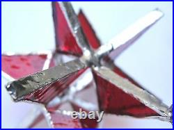 Lot of 25! Stained Glass FIESTA COLOR Moravian STARS RED WEDDING FAVORS