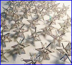 Lot of 25! Stained Glass Moravian STARS Iridescent WHITE! Christmas