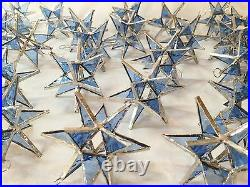 Lot of 50! Stained Glass Moravian STARS Iridescent TURQUOISE