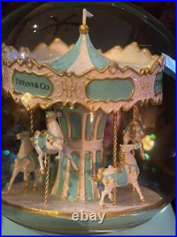 Luxury Snow Globe with Winding Carousel Inside Ultra Rare Collectible VIP Gift