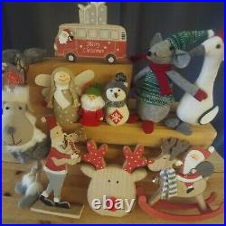 MIXED JOBLOT 100 brand new LUXURY CHRISTMAS DECORATIONS for resale £500+