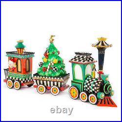 MacKenzie-Childs Christmas Train Ornament Set of 3