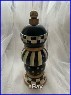 MacKenzie-Childs Courtly Check Pepper MILL / GRINDER 7'' 100% AUTHENTIC