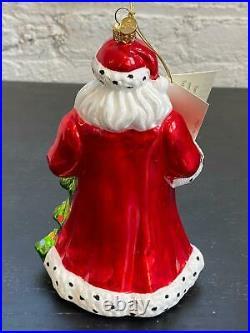 MacKenzie-Childs Glass Ornament'Tis the Season Santa