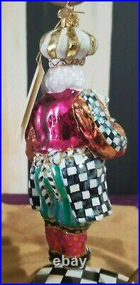 Mackenzie Childs Gingerbread Santa Glass Ornament # 53913-115