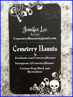 Madame Leota Halloween Haunted Mansion Life Size Tombstone Disney Yard Decor