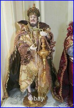 Mark Roberts Florentine Christmas Nativity Figurines 5 Pc Set 19 #51-76340