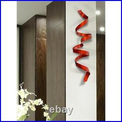 Metal Wall Art ULTRA MODERN Red Wall Sculpture Decor ORIGINAL SIGNED Jon Allen