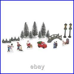 Mini 25 Piece Light Up LED Christmas Village Decoration Scene Miniature World