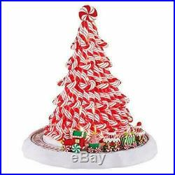 Mr. Christmas Peppermint Tree with Train Holiday NEW Plays 15 Christmas Carols
