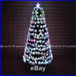 Multicolour LED Fibre Optic Lights Christmas Tree Xmas Home Decorations 2ft-6ft