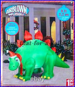 NEWRARE 9 ft Stegosaurus Christmas Dinosaur-Airblown-Inflatable-Gemmy