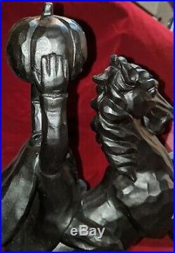 NEW- 19 Headless Horseman Ichabod Crane Sleepy Hollow Statue Black Halloween