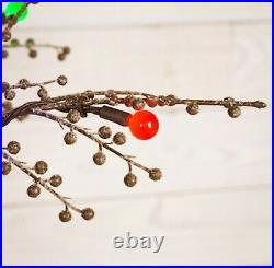 NEW GE 5´ Ft Tall Winterberry Christmas Tree with200 Sugar Plum Color LEDs