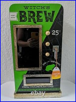 NEW HTF Witch's Brew Halloween Display Cabinet Green Decor Witches Brew