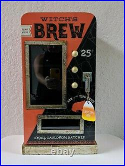 NEW HTF Witch's Brew Halloween Display Cabinet ORANGE Decor Witches Brew