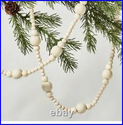 NEW Hearth & Hand with Magnolia Wood Bead Garland 12 ft-Lot of 4 SOLD OUT Disconti